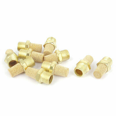 1/4BSP Thread Sintered Brass Pneumatic Air Exhaust Silencer Muffler 10pcs