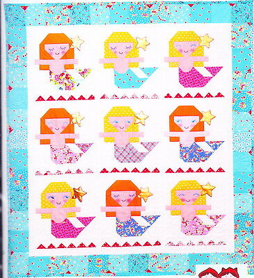 Aloha Mermaid - fun pieced quilt PATTERN for little girls - Red Brolly