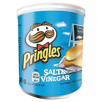 Pringles Crisps Salt & Vinegar 40g (case of 12 packs) Price Marked