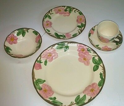 5 PIECE PLACE SETTING Franciscan DESERT ROSE England * Plates Bowl Cup *NATL INQ