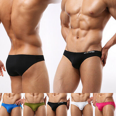 Hot Comfy Stylish Mens Low Rise Solid Swimming Underwear  Cool Briefs Underpants