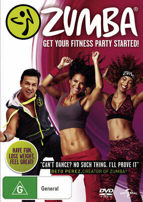 Zumba Fitness - Health Exercise Dance Workout Cardio DVD R4 New!