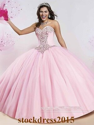 New Quinceanera Dress Formal Prom Party Pageant Ball Gown Wedding Dresses Custom