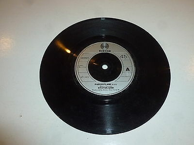 "STATUS QUO - Paper Plane - 1972 UK solid centre 7"" vinyl single"