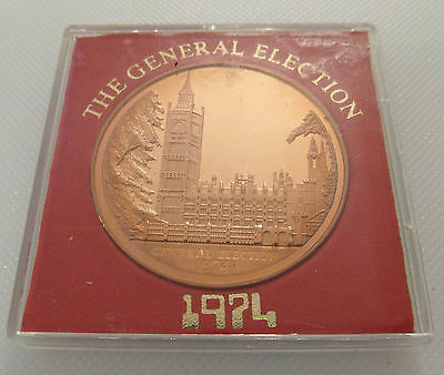 Scarce Collectable Medal - The General Election 1974 Medal / Solid Bronze