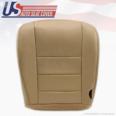 2002 - 2007 Ford F250 F350 Lariat Driver Bottom Leather Seat Cover Parchment TAN