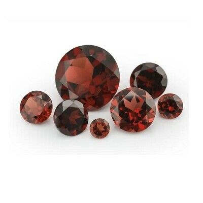 3.75mm Round Brilliant Cut Natural Garnet Loose Gemstone January Birthstone