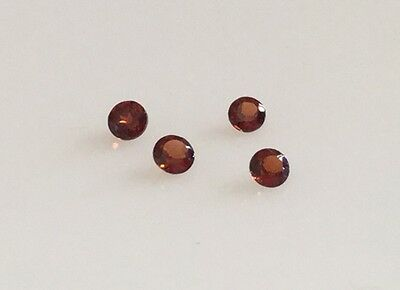 2.5mm Round Brilliant Cut Natural Garnet Loose Gemstone January Birthstone