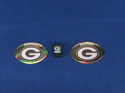 Lot Of 3 Green Bay Packers Vending Mini Plastic Square Cup & 2 Football Stickers