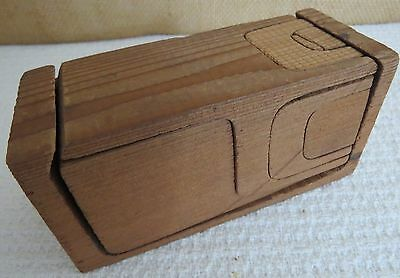 Antique Egyptian Puzzle Toy Made of One Single Block of Wood Toy Mfg. Co. RARE!