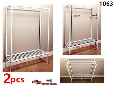 Towel Rack Stainless Steel Stand Round Bottom Shelf Bathroom 95x 60cm LY95R