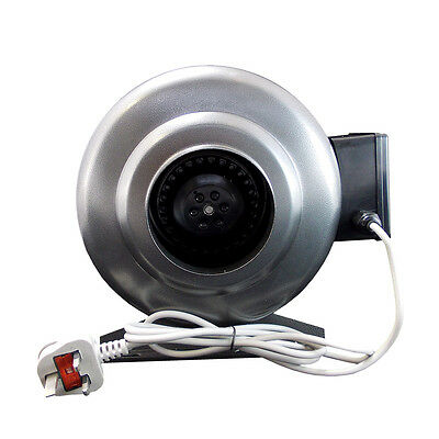Inline Duct Extractor Fan Hydroponic Ventilation Kitchen Industrial SS
