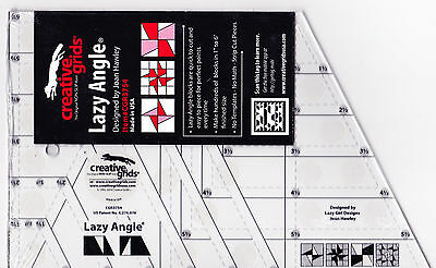 Creative Grids Lazy Angle ruler - easy to use, no math cutting