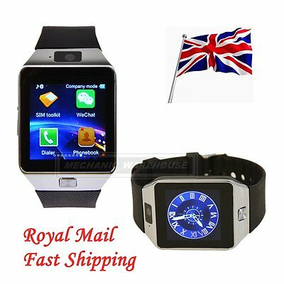 Bluetooth DZ09 Strap Smart Watch For Android Phone with GSM SIM Card Slot Black