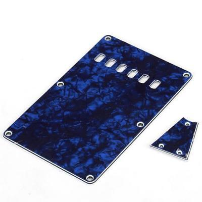 Blue Pearl 3 Ply Back plate Rear Tremolo Cover for Fender Stratocaster GUITAR
