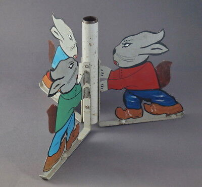 Vintage Metal Christmas Tree stand - Rabbits, ca. 1920   (# 5469)