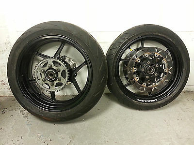 2006-2007 D6F D7F Kawasaki ZX10R Front & Rear Wheels with Road / Dry Tyres  - B4