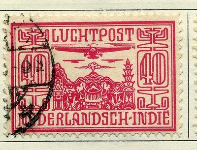NETHERLANDS INDIES;  1928 early AIR issue fine used 40c. value