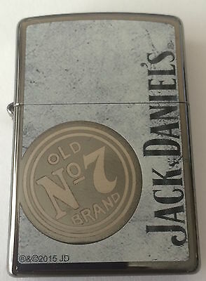 Zippo Black Ice Lighter With Jack Daniels Logo and Old No. 7 Logo, 46823, NIB