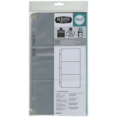 "We R Ring Photo Sleeves 6""X12"" 10/Pkg-Three 6""X4"" Pockets by We R Memory Keepers"