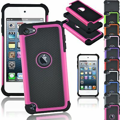 Rubber Silicone Hybrid Shockproof Impact Cover Case for iPod Touch 5th 6th Gen