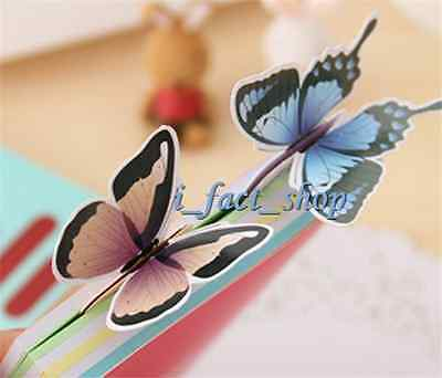 4PCS Reading Accessories Butterfly Book Marker Page Holder Gift Stationery IFA