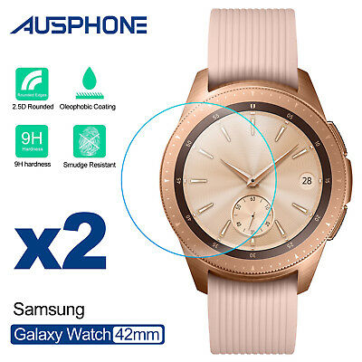 2 Pack Tempered Glass Screen Protector Film For Samsung Galaxy Watch 42mm