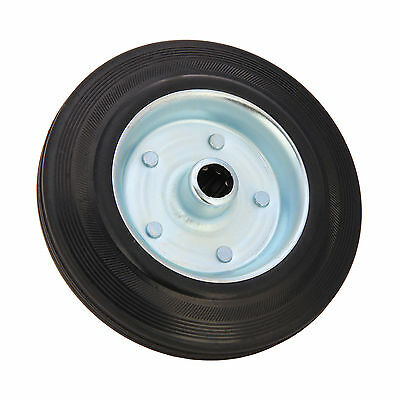 Replacement Steel Wheel for Medium Duty Jockey Wheels with Solid Rubber Tyre