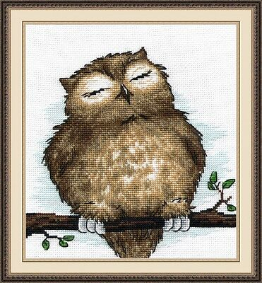 """Counted Cross Stitch Kit OVEN 729 - """"Sleeping Owl"""""""