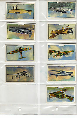 1939 Aeroplanes  by Gallaher complete card set 48 vintage cards lot collection