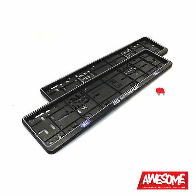 Number Plate Surround/Frame/Holder Ford Rs Motorsport Focus St (Pair) With Key!
