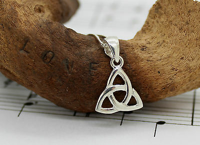 925 Sterling Silver Celtic Trinity Knot Necklace,18 Inch,From Ireland, Pendant
