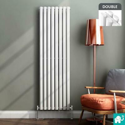 Modern  Anthracite White Oval Designer Radiator Bathroom Mirror 1800 x 500mm