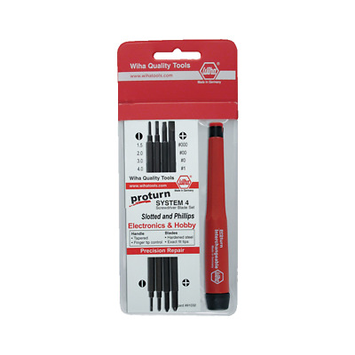 Wiha 62990 Proturn Slotted and Phillips Screwdriver Pocket Pack, 5 Piece