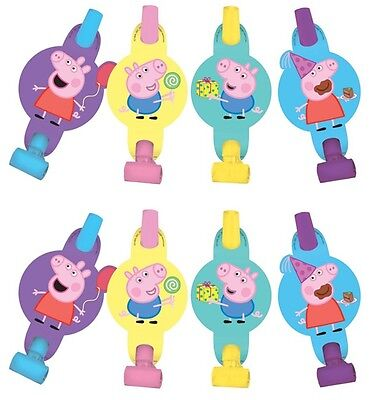 NEW Peppa Pig  (8ct) Blowouts Children Birthday Party Favor Supplies Decorations