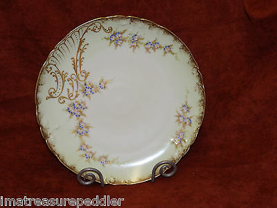 "Jean Pouyat Limoges France 12 3/4"" Charger gold trim"