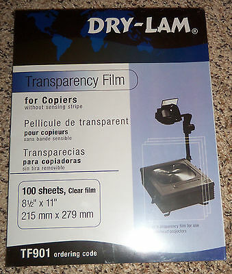 Transparency film for overhead projectors. for copiers and laser jet printers