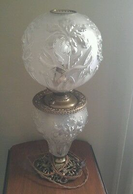Full globe Oil lamp. Converted to 110