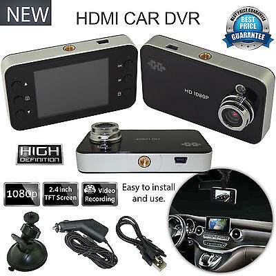 """1080P 2.4"""" HD LCD Night Vision CCTV In Car DVR Accident Camera Video Recorder UK"""
