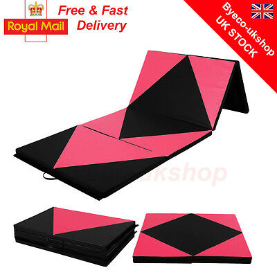 """2"""" Thick Soft Play Folding Panel Gymnastics Mat Pattern Gym Fitness Exercise BY"""