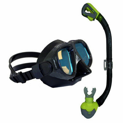 NEW Anti-Glare Stealth Colour Enhance Silicone Mask and Dry Top Snorkel Set Dive