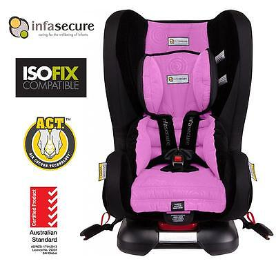 Infasecure Kompressor II Luxury Caprice Kid Baby Car Seat 0-4 year ISOFix PNK
