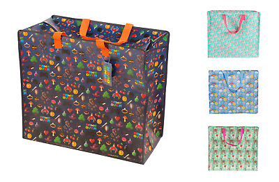 New Quality Large Storage Bags Totes Reusable Zip Laundry by Sass & Belle