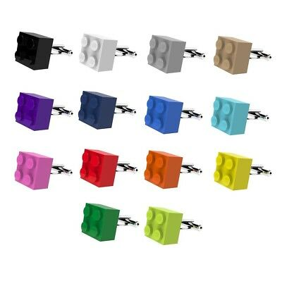 LEGO ® Brick Cufflinks SILVER PLATED - Wedding Groom Mens Gift