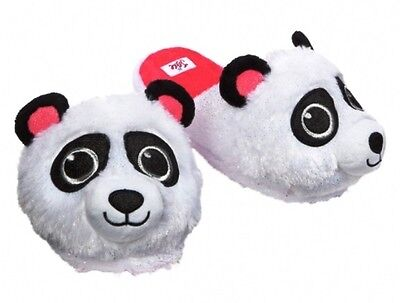 NWT Justice Girls Plush Sparkle Panda Bear Slippers House Shoes U Pick Size NEW