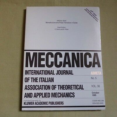 Meccanica 30_5 1995_Microstructure and Phase Transitions in Solids_Mechanics