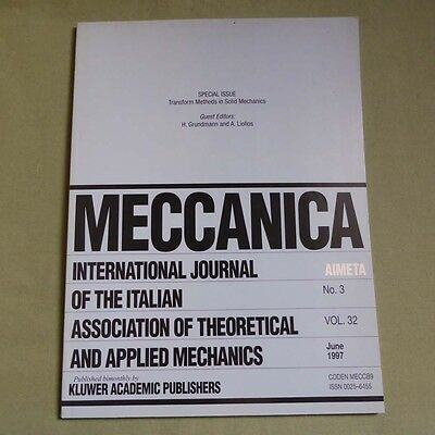 Meccanica 32_3 1997_International Journal of Theoretical and Applied Mechanics
