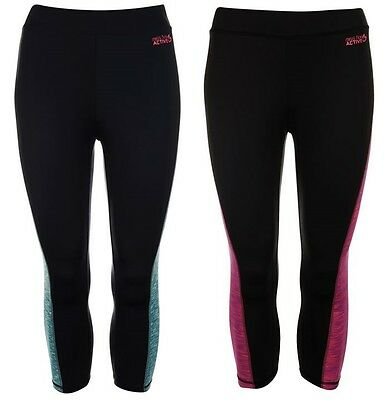 Girls Gym Cycling Running Active Capri 3/4 Compression Skins Tights - MissFiori