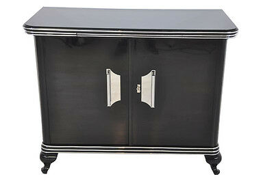 Small Art Deco Chest of drawers with large Chrome handles
