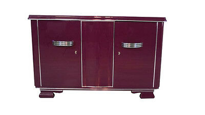 Extravagant Art Deco Sideboard in one exceptional Purple